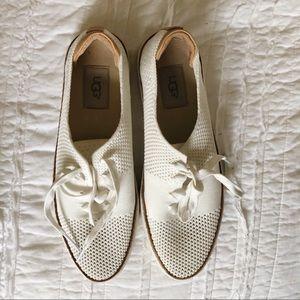 Ugg White Eyelet Sneakers